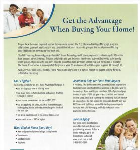 Affordable mortgages and downpayment assistance for many residents of North Carolina.
